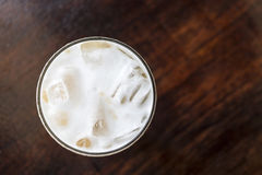 Cappuccino vanaf bovenkant Royalty-vrije Stock Fotografie