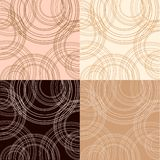 Cappuccino, vanilla and chocolate backgrounds Royalty Free Stock Photo