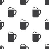 Cappuccino, vector seamless pattern Royalty Free Stock Images