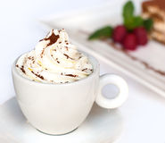 Cappuccino with whipped cream Stock Photography