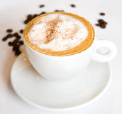 Cappuccino with whipped cream Stock Images