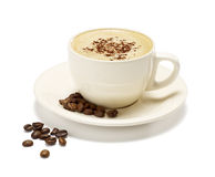 Cappuccino on a white background Royalty Free Stock Photos