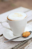 Cappuccino in White Cup Royalty Free Stock Photo
