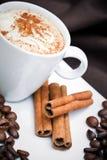 Cappuccino y galletas foto de archivo