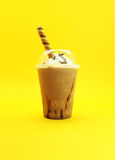 Cappuccino z śmietanką Zdjęcie Royalty Free