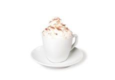 Cappuccino z batożącą śmietanką Zdjęcie Royalty Free