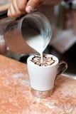 Cappuccinoförberedelse Arkivfoton