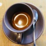 Cappuccinokaffee in der Schale stockbild