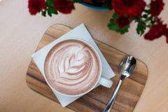 Cappuccinokaffeedetails stockbilder
