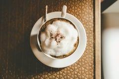 CappuccinoKaffeetasse Stockfotos