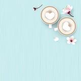 Cappuccinokaffeförälskelse royaltyfri illustrationer