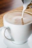 cappuccinokaffekopp Fotografering för Bildbyråer