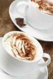 cappuccinos δύο Στοκ Φωτογραφίες