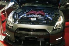 Cappuccio aperto della macchina da corsa dell'orizzonte di Nissan Fotografia Stock