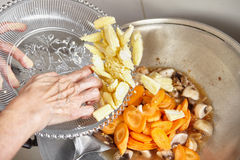 Cappuccio cai della frittura di scalpore Fotografie Stock
