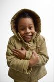 Cappuccio d'uso del bambino Fotografia Stock