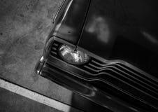 Cappuccio dell'automobile nel parcheggio Immagini Stock