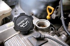 Cappuccio dell'olio per motori Fotografia Stock Libera da Diritti
