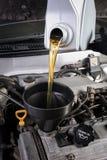 Cappuccio dell'olio per motori fotografie stock libere da diritti