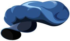 Cappuccio dell'uniforme del blu Immagini Stock