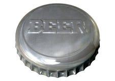Cappuccio della bottiglia di birra Fotografie Stock Libere da Diritti