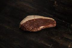 Cappuccio della groppa - bistecca cruda - barbecue Fotografia Stock Libera da Diritti