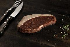 Cappuccio della groppa - bistecca cruda - barbecue Fotografie Stock