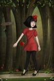 Cappuccio di guida rosso royalty illustrazione gratis
