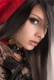 Cappuccio di guida rosso scuro Fotografia Stock