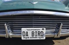 Cappuccio e griglia di Ford Thunderbird ristabilito fotografia stock