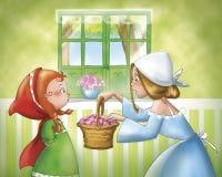 Cappuccio e mamma di guida rossi royalty illustrazione gratis