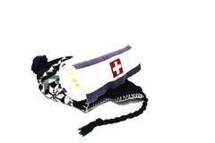 Cappuccio e sciarpa di inverno Fotografia Stock