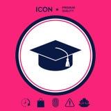 Cappuccio matrice per i laureati, cappuccio accademico quadrato, icona del cappuccio di graduazione Immagine Stock Libera da Diritti
