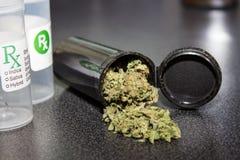 Cappuccio medico della marijuana Fotografie Stock Libere da Diritti