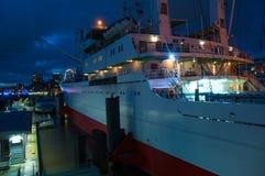 Cappuccio San Diego del cargo in porto di Amburgo fotografie stock libere da diritti