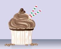Cappuchino杯形蛋糕 免版税库存照片