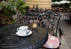 cappuchino кафа outdoors Стоковая Фотография RF