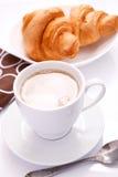 Cappuchino With Croissant Stock Photos