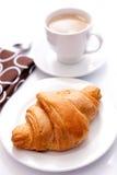 cappuchino croissant Στοκ Εικόνα