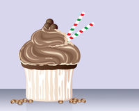Cappuchino cupcake Royalty Free Stock Photo