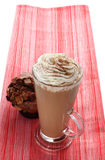 cappucino咖啡杯latte松饼 库存图片