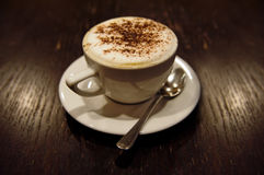 cappucino杯子 免版税库存图片