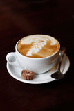 Cappucino. A delicious and well served cappucino stock photo
