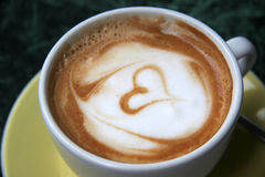 Cappucino. With heart stock photo