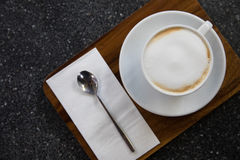 Cappucino coffee on the table Stock Photos