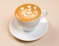 Cappucino.Cup van koffie Stock Foto's
