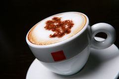 Cappucino with dollar sign Stock Image