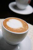 Cappucino with heart shape Royalty Free Stock Image