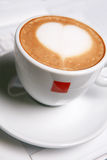 Cappucino with heart shape Royalty Free Stock Images