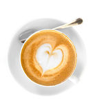 Cappucino with heart shape foam Stock Image
